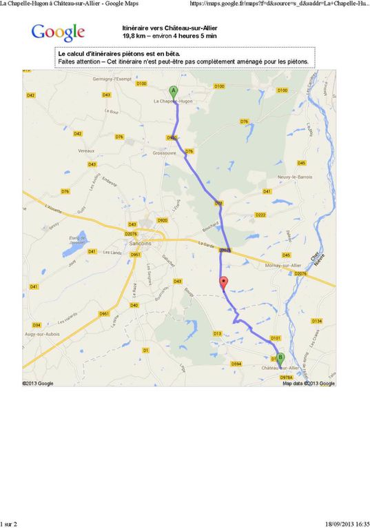 Pouilly-sur-Loire à Bourbon l'Archambault