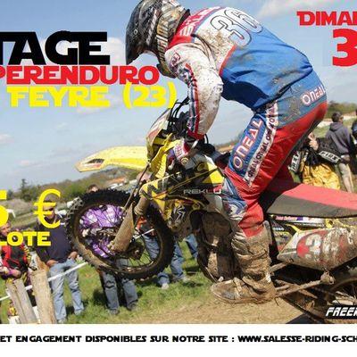 Stage Superenduro à Clugnat (23), le 26-27 aout et le 3 septembre 2017