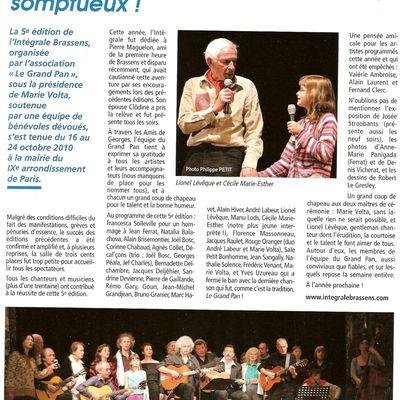 2010, Revue Les Amis de Georges