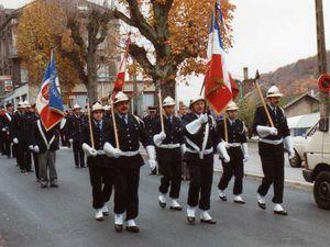 Sainte-Barbe des Sapeurs-Pompiers à Algrange en 1991