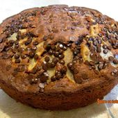 Gâteau au chocolat, noix et poires - sucreetepices.over-blog.com