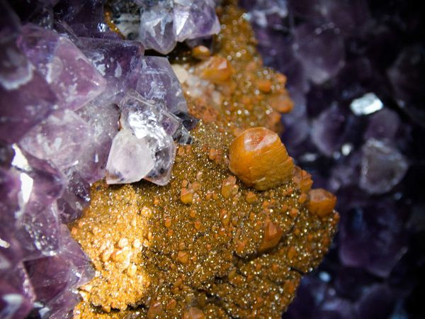Amethyst (Améthyste) with Calcite in Geode from Rio Grande Do Sul, Brasil (66Kg) (size: Museum XXL)