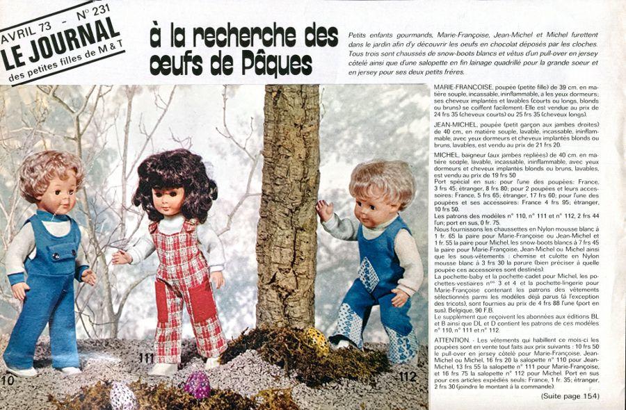 Modes & Travaux • Septembre 1973