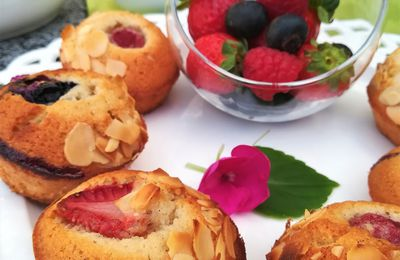 Financiers ~ Fruits Rouges Vanille ~