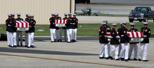 Back home for 4 americans killed in Consulate in Benghazi