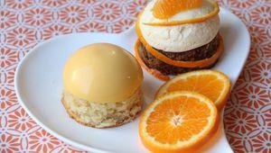 Duo de dômes au citron et à la mandarine
