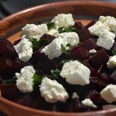 Salade betteraves fromage brebis cookeo |
