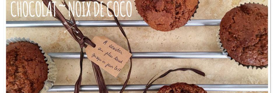 Muffins chocolat ~ noix de coco