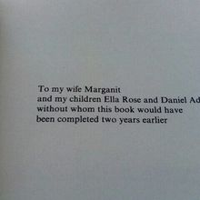 Dedication page of 'introduction to algebraic topology'