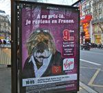 Affiches Virgin Mobile, Depardieu l'exilé fiscal et Michael Jackson le mort-vivant traités comme des chiens