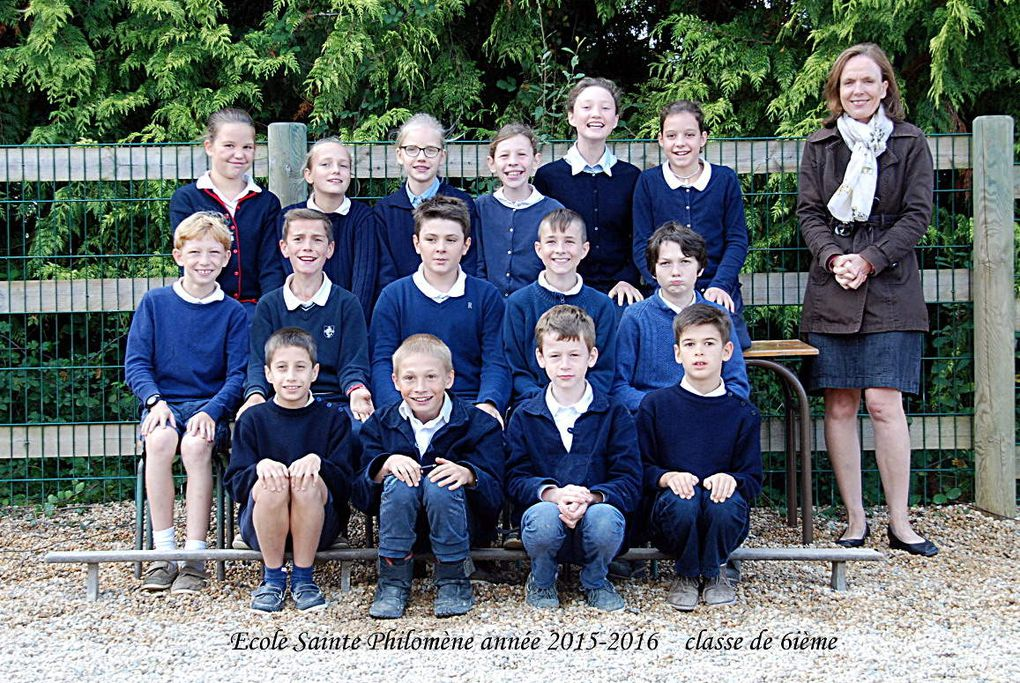 photos de classes 2015 - 2016