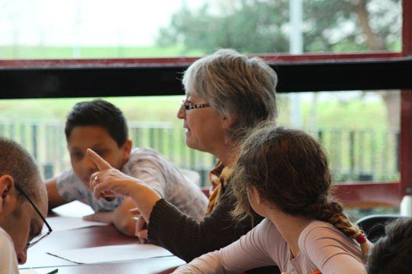 Denise Déjean, Jean Dherbey et Dominique Lin en ateliers et dédicaces