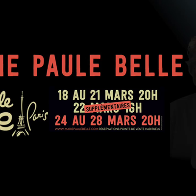 Marie-Paule Belle sera sur la scène La Nouvelle Eve entre le 18 et le 28 mars