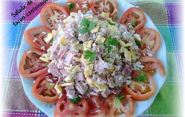 Salade de riz façon cantonnaise