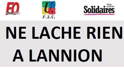 Rassemblement lundi 2 mars 2020 à 18h à Lannion place du Marchallac'h