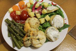 Assiette-Repas : avec St Jacques & Blinis