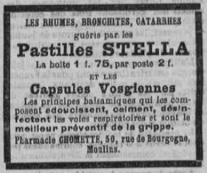 Mesures contre la grippe espagnole à Moulins et en Bourbonnais