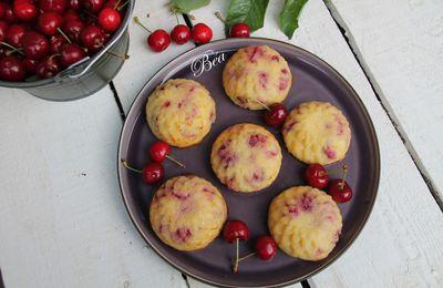Gâteau de semoule aux cerises et à la fleur d'oranger