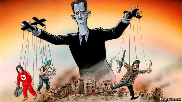 Can he manipulate the West?  President Bashar Assad's hopes are rising that he may be able to use the conference in Geneva to bolster the legitimacy of his regime. Jan 25th 2014