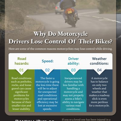 Why Do Motorcycle Drivers Lose Control Of Their Bikes?