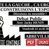 Emploi, débat à Abbeville sur l'alternative...