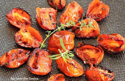 Tomates Mi-Confites à l'Huile d'Olive, Thym et Romarin