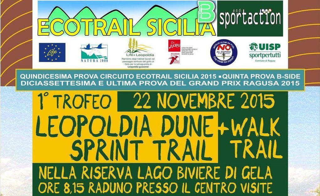 Leopoldia Dune Sprint Ecotrail 2015 (1^ ed.). Grande successo per la prima con oltre 120 partecipanti nella prova agonistica, in un contesto di Sport&Natura