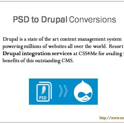 Pixel perfect PSD to Drupal conversions.