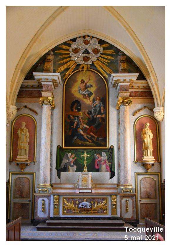 Tocqueville: Église, la restauration se poursuit