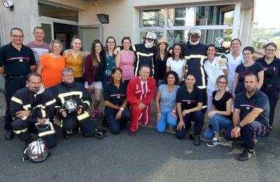 Figeac (46) - Journée d'échange entre les pompiers et les personnels des urgences du centre hospitalier