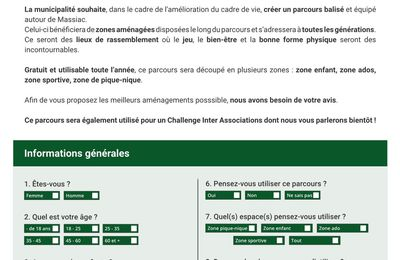 Massiac : questionnaire d'informations communales