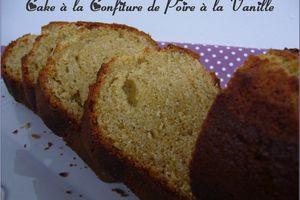 Cake à la confiture de poire à la vanille