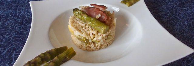 Risotto aux asperges vertes et jambon Speck Risotto aux asperges vertes et jambon Speck  Ingrédients...