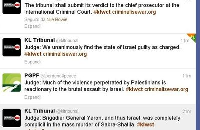 Malaysian tribunal #KLWCT  finds #Israel and general #Yaron guilty of crime against humanity and genocide