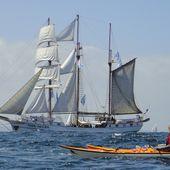 Brest - Douarnenez : les Tonnerres de Brest 2012 - Randonnées kayak : les balades de Yanike et de Rabiou II