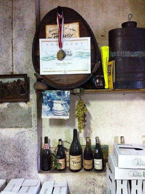Quelques photos de notre passage éclair chez Bruno Lupin (Domaine Lupin) à la Cave de la ferme à Frangy (Haute-Savoie)