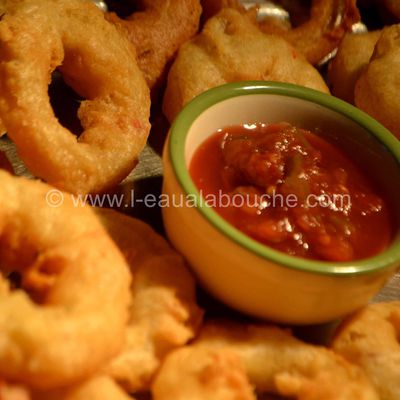 Onion Rings-Beignets d'Oignons