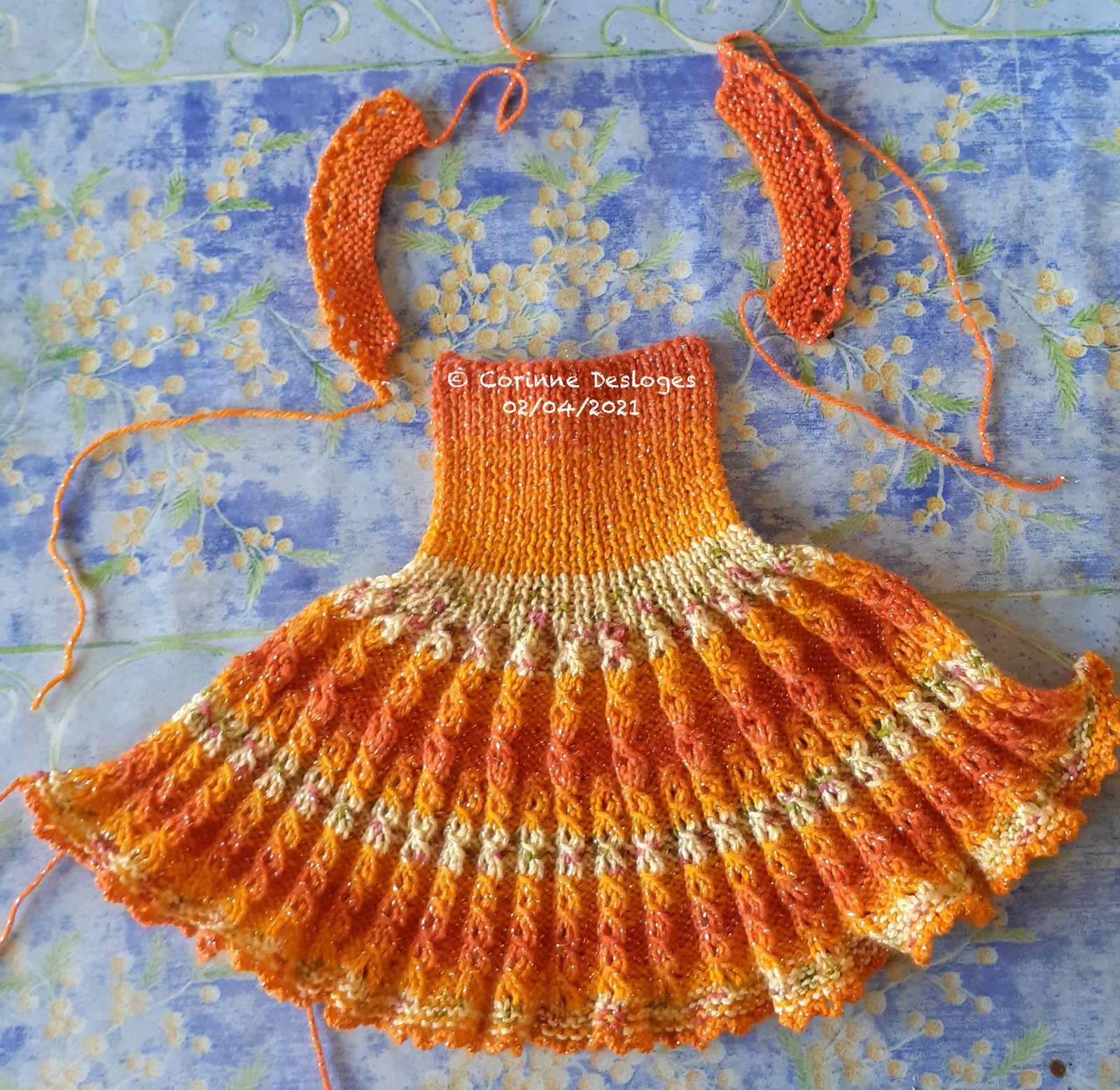 TRICOT pour poupée Nancy : j'ai refait la robe Pastels Gypsy