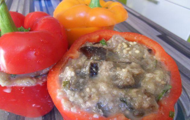 poivrons farçis végétariens