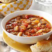 Cassoulet au boeuf au Cookeo - un plat pour votre repas de midi.