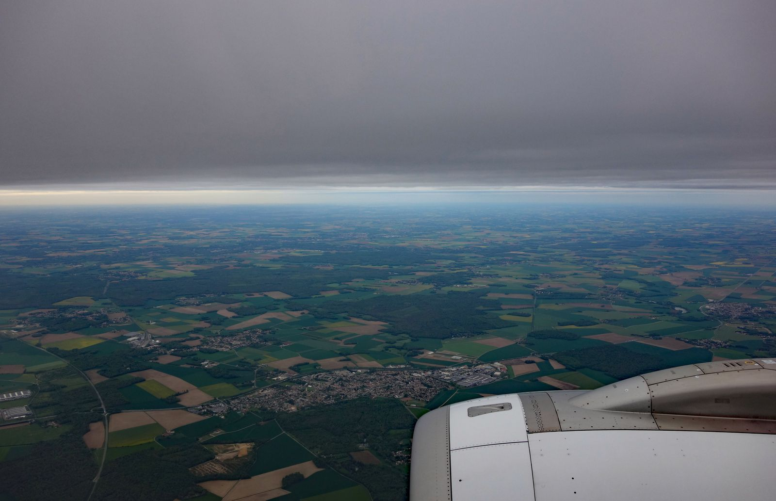 6 minutes avant atterrissage à Orly