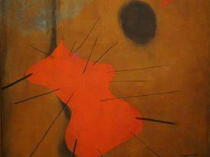 Peinture - La tache rouge - 1925 - Huile et pastel sur toile -