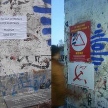 SNCF : Un pan de mur de Berlin (porte de Versailles) support au débat : Choisissez votre côté !