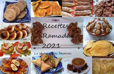 RECETTES POUR RAMADAN 2021