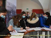 Visite pédagogique du collège de Forcalquier à la Maison d'Histoire et Mémoire d'Ongles (04)