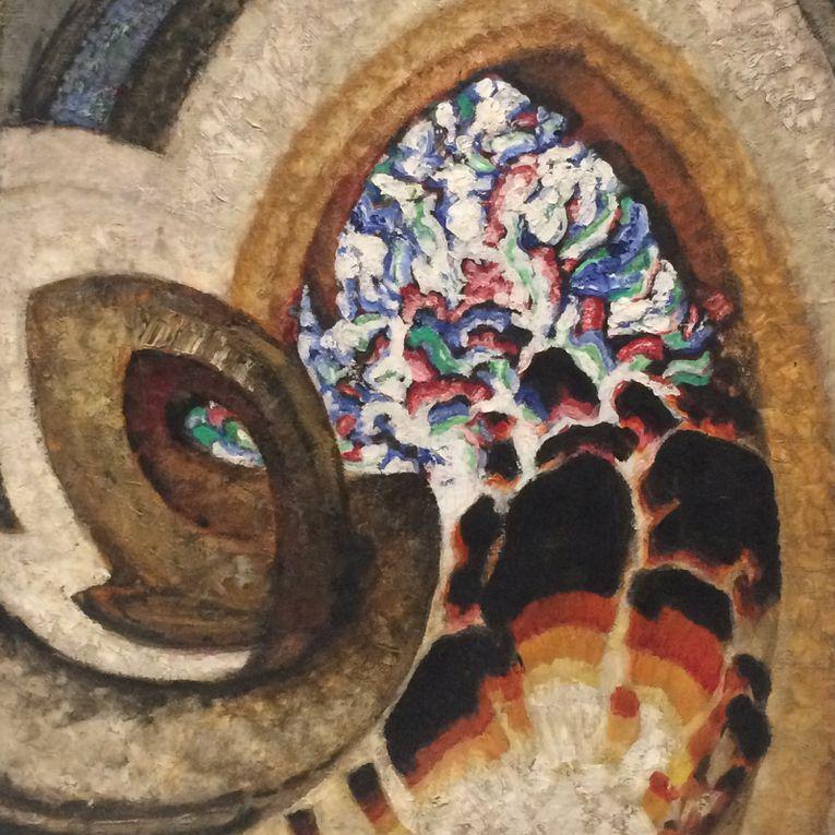 1920 : Etudes autour d'un point et Recherche sur la verticalité, Vermillon, Fleur,  Contrastes gothiques