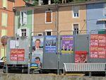 Affiches pour les élections européennes: 4- Majorité Présidentielle et Dupont-Aignan