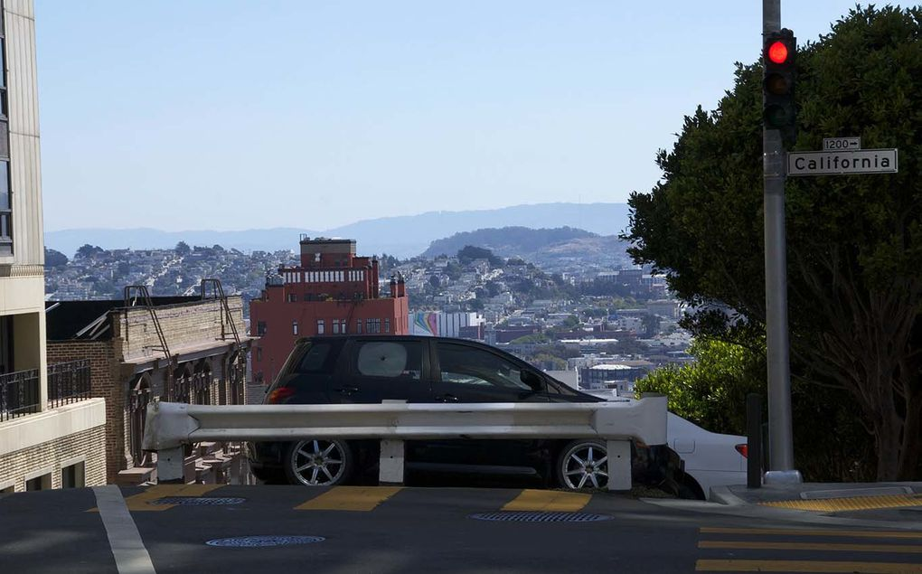 The steep streets of San Francisco, including winding Lombard Street and Filbert Street (31.5%)