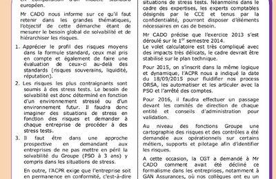 Comité Central d'Entreprise UES du 22 janvier 2015 - Démarche ORSA, enquête CSP paie, déclaration sociale nominative... (2 pages)