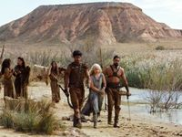 Eté 2015, tournage de Game of Thrones dans le désert des Bardenas, région Navarre, en Espagne.